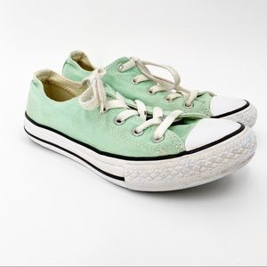 Converse All Star Sneakers Youth Size 2 Aqua Green